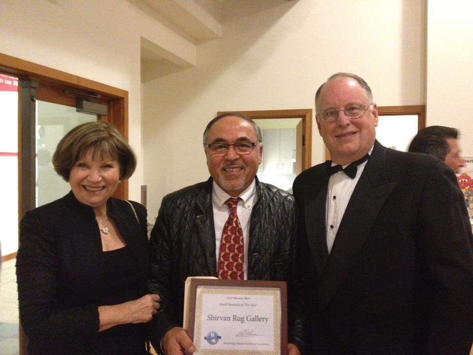Adem with the Mayor Steven Bonkowski and his wife
